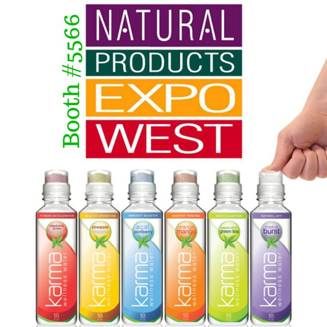 We are gearing up to share good KARMA at the Natural Products Expo this weekend. Stop by our booth #5566 to transform water into wellness!  #ExpoWest