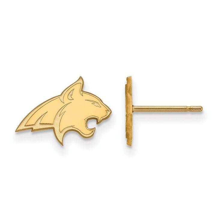 Sterling Silver w/GP LogoArt Montana State University XS Post Earrings