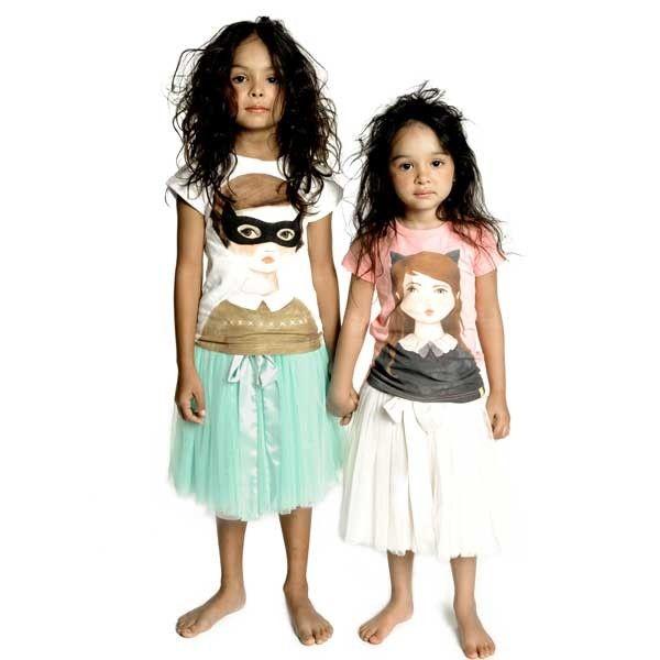 Pavlova skirts with Kitten Bandit and Cat Girl tees