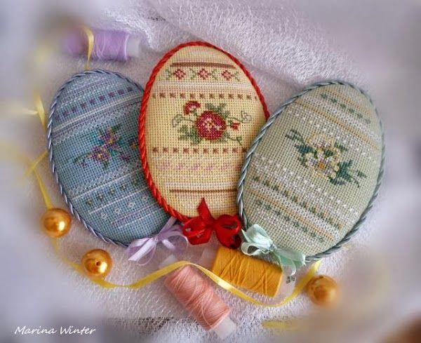 Милые сердцу штучки: Продолжаем готовиться к Пасхе: несколько схем для вышивки крестом