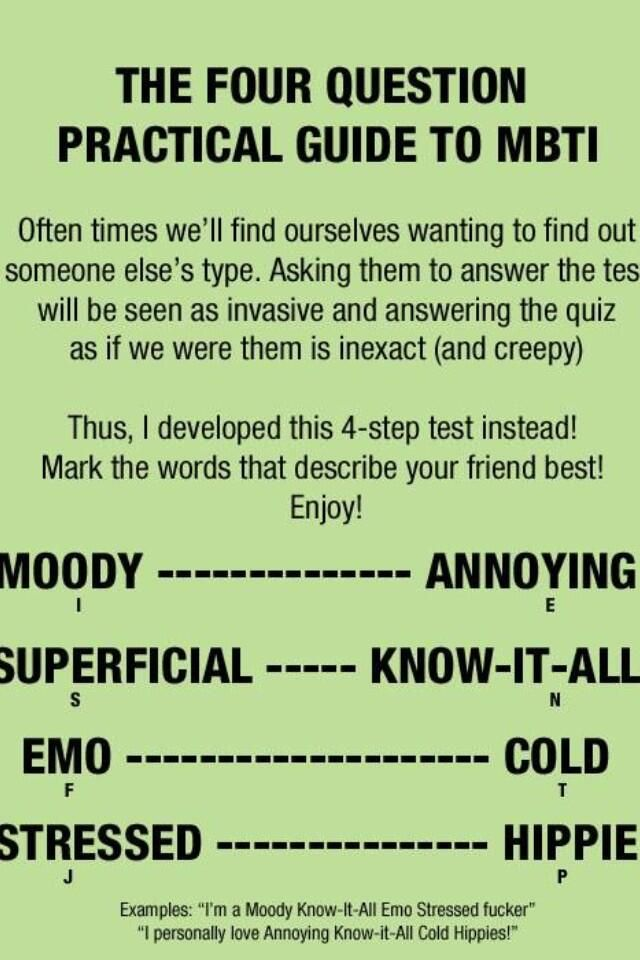 Simple MBTI guide