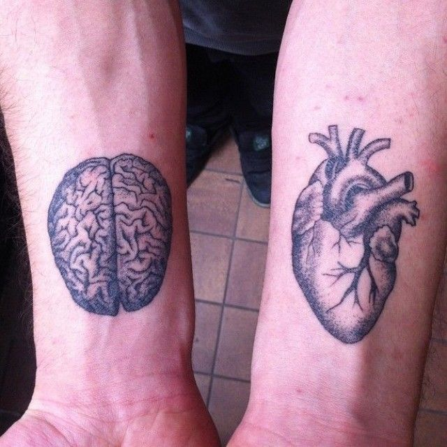 #мозг #сердце #heart #tattoo #татуха #тату #татуировка