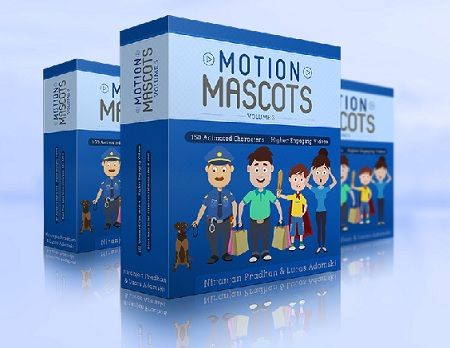 Motion Mascots V3 Review - Motion Mascots V3 is a brand-new, premium collection of conversion-boosting animated characters! Now you'll be able to offer premium video creation service for your clients!
