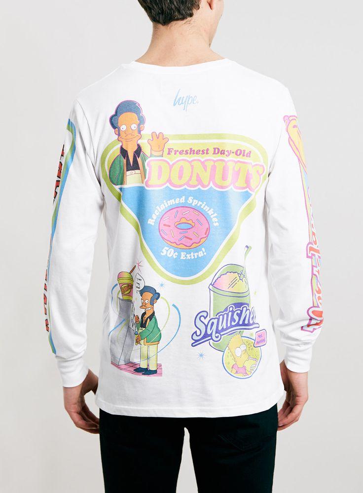 Hype X The Simpsons Kwik E Mart Long Sleeve T-Shirt* - Men's T-Shirts & Vests - Clothing - TOPMAN