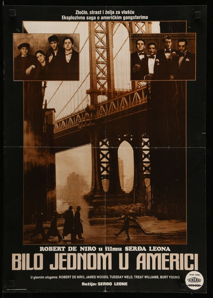 Happy Birthday #RobertDeNiro https://eartfilm.com/search?q=de+niro #actors #directors #boxing #gangsters #scorsese #NYC #Brazil  Once Upon A Time In America 1986 18.75x26.5 Vintage Movie Poster Yugoslavia