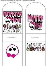 monster high party ideas   ... Holder, Monster High, Party Decorations - Free Printable Ideas