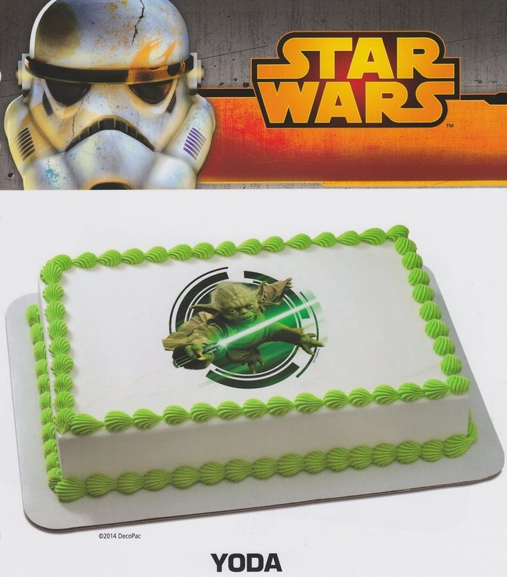 Star Wars Yoda Edible Icing Cake Image -- Check this awesome image : baking decorations