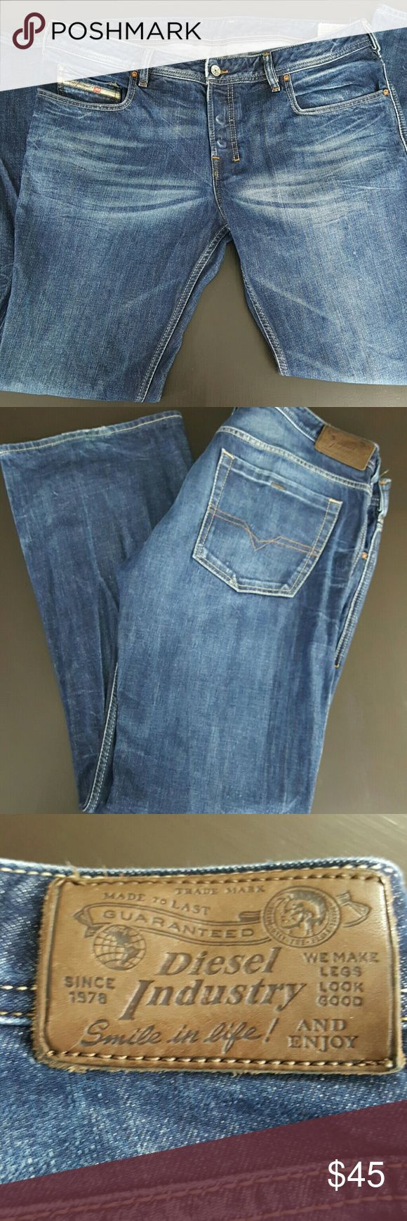 Diesel Boot Cut Jeans 38x32 Diesel Boot Cut sz. 38x32  Button Fly. Great condition Diesel Jeans Bootcut
