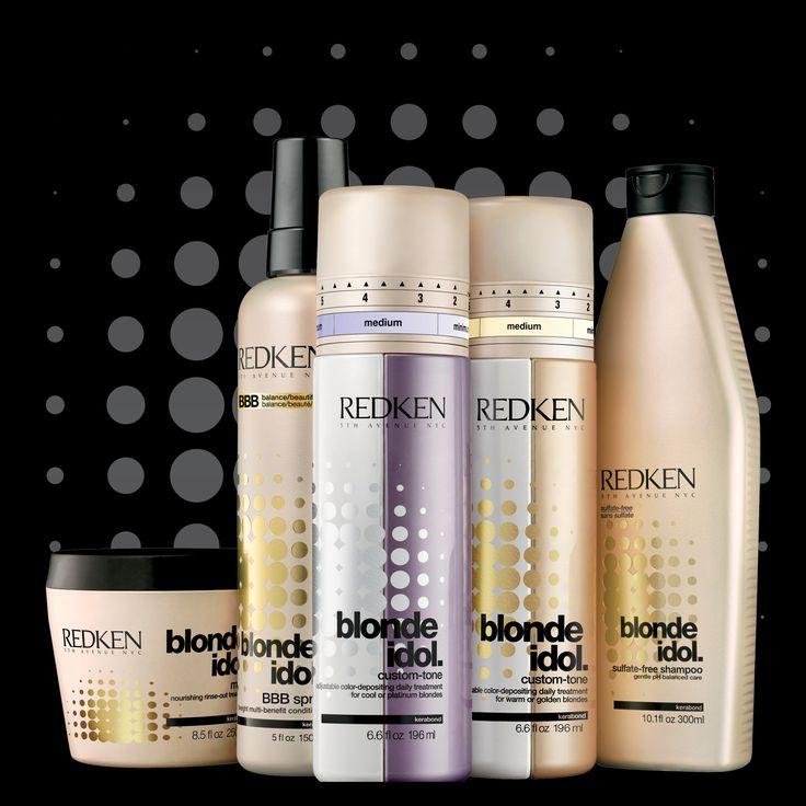 Blonde Idol - REDKEN's Pflegeserie speziell für blonde Haare! Lass dich vom REDKEN Friseur in deiner Nähe beraten: http://www.redken.de/consumers/salon-finden
