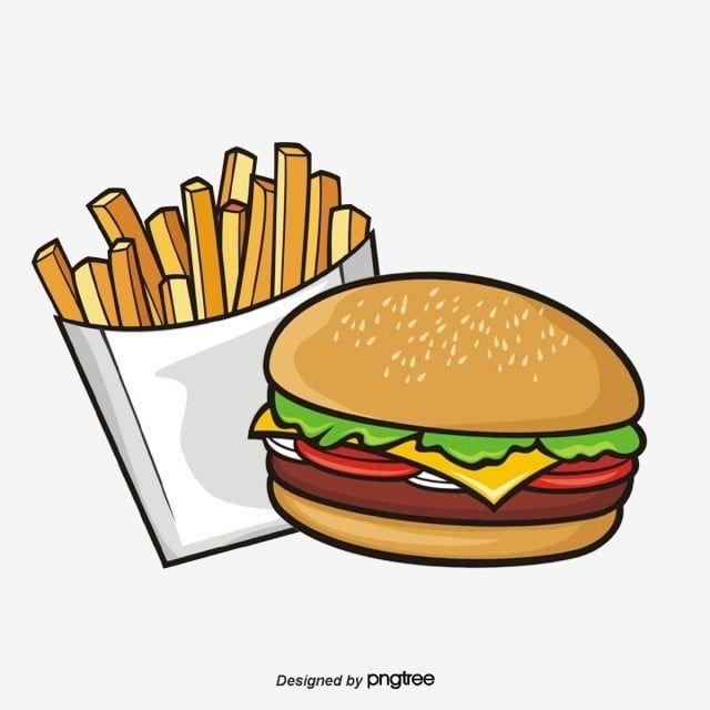 Material De Diseno De Dibujos Animados Hamburguesas Fritas Comida Dibujos Animados Comida Rapida Png Y Psd Para Descargar Gratis Pngtree Hamburger And Fries Burger And Chips Burger And Fries