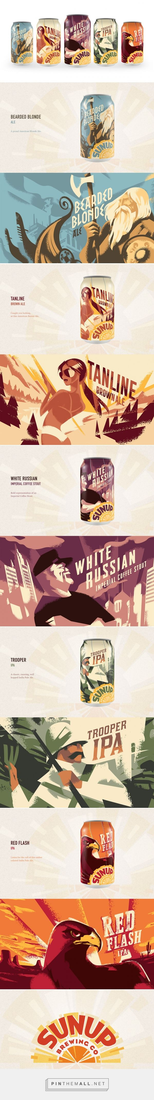 SunUp Brewing Co - Packaging of the World - Creative Package Design Gallery - http://www.packagingoftheworld.com/2016/08/sunup-brewing-co.html