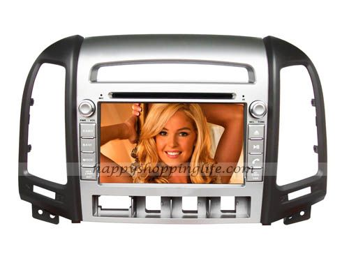 Newest 2 din android car DVD player for Hyundai Santa Fe, car multimedia head unit with 7 Inch multi-touch screen, built in Wifi, support USB 3G Internet access, support virtual N disc, GPS navigator support real-time traffic information and navigation, Radio with RDS, Bluetooth, iPod, AUX, analog TV, USB, SD, iPod, Support 1080 HD video, support live wallpapers and personalized wallpaper, support the original steering wheel controls