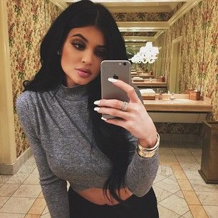 She knows the value of a good mirror. | Kylie Jenner Says The Image She Projects On Instagram Isn't Really Her