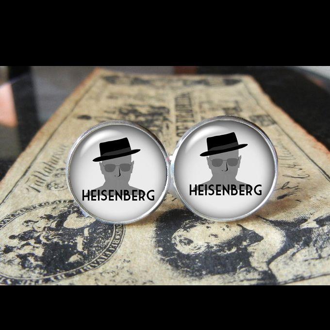 BREAKING BAD HEISENBERG  Find us at these as well:  http://www.bonanza.com/booths/Kustom_Kufflinks  http://www.rebelsmarket.com/rebel-store/kustom-kufflinks