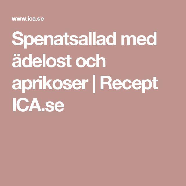 Spenatsallad med ädelost och aprikoser | Recept ICA.se