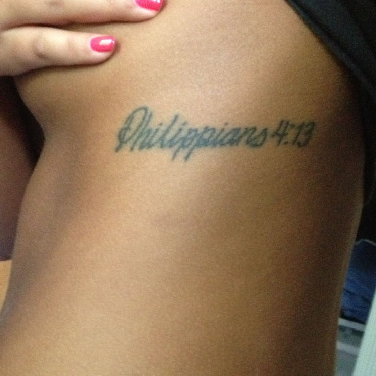 40 Philippians 4 13 Tattoo Designs For Men: Philippians 4:13 I Can Do All Things Through Christ Who