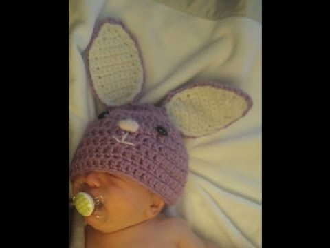 Sweet Bunny Newborn Photo Prop Set  **hat and diaper cover** crochet EASY - YouTube