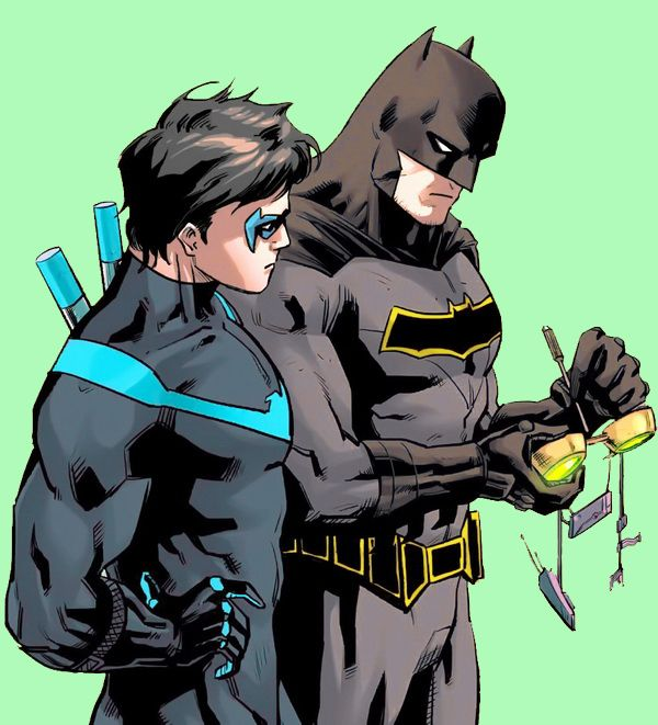Nightwing & Batman. Dick Grayson & Bruce Wayne. <3