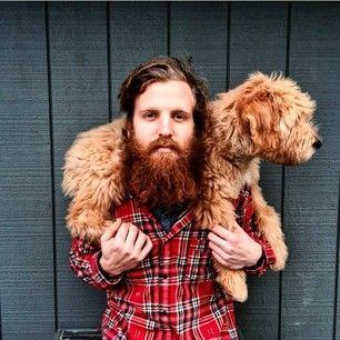 Derroche de dulzura: | 25 Hombres guapos con barba y perrito que vas a querer tener en la sala de tu casa