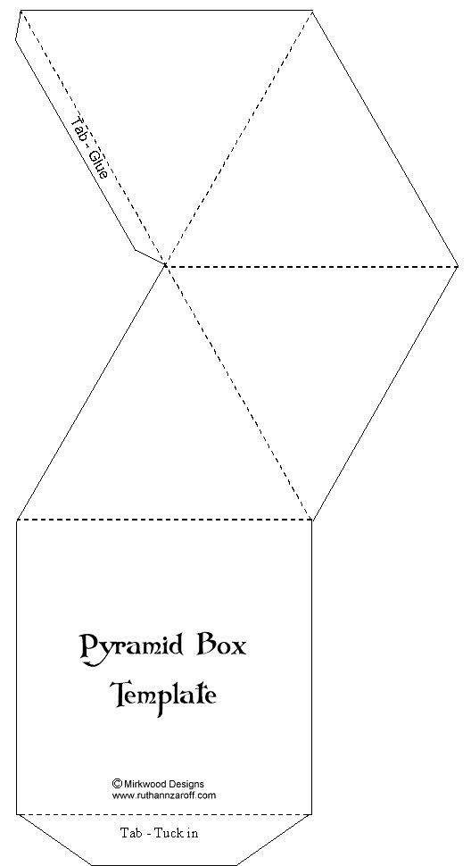 Advent Calendar | Pyramid Box Template – Paperandmore.com