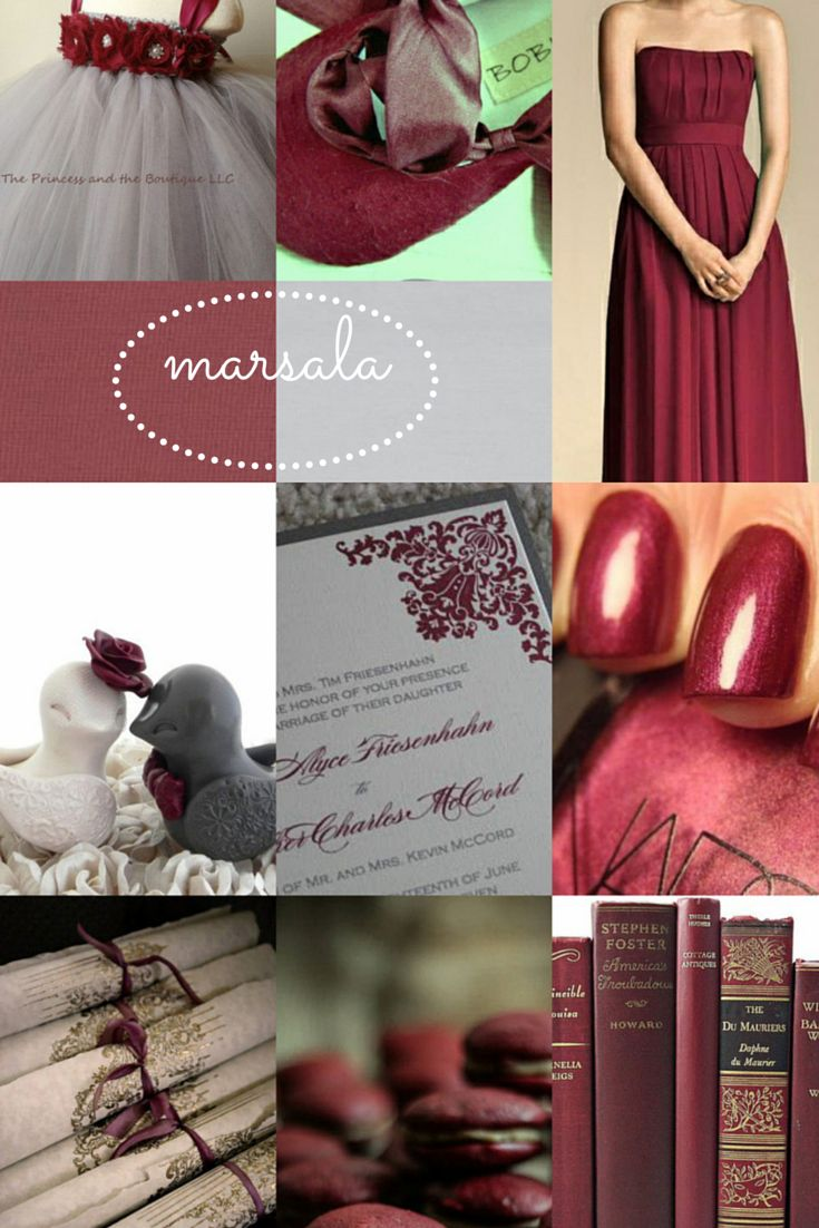 37 best Marsala Wedding Ideas 2015 Color of the Year images on ...