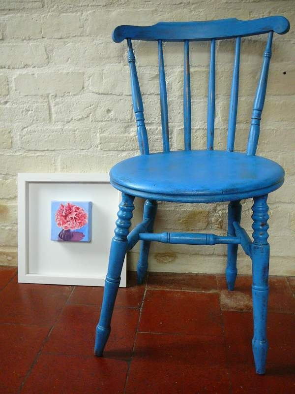 Antique Country Chair Painted In Annie Sloan S Monet Blue