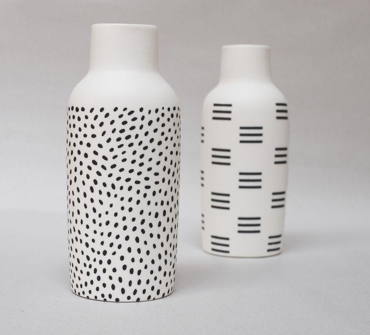 This shape vase is fab.. Pattern is cute too  Bottle Vases :: The Granite