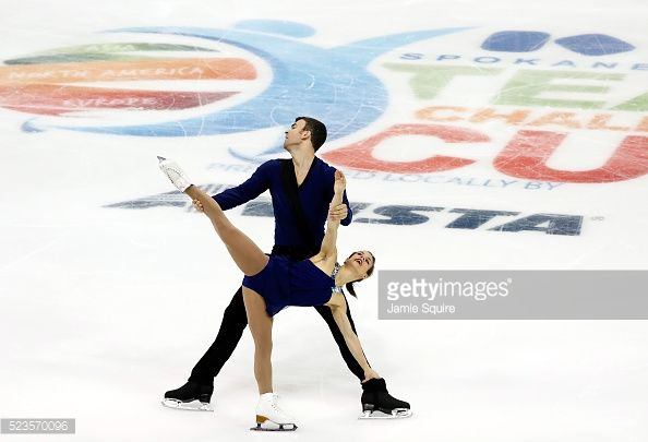 Meagan Duhamel and Eric Radford of Team North America compete in the Pairs Free Skate on day 2 of the 2016 KOSE Team Challenge Cup at Spokane Arena on April 23, 2016 in Spokane, Washington.