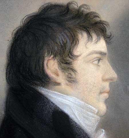 mens hairstyles 1830 pastel on card 1857   smallish