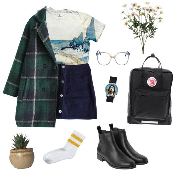 A fashion look from January 2015 featuring Claudie Pierlot skirts, Monki socks and Monki boots. Browse and shop related looks.