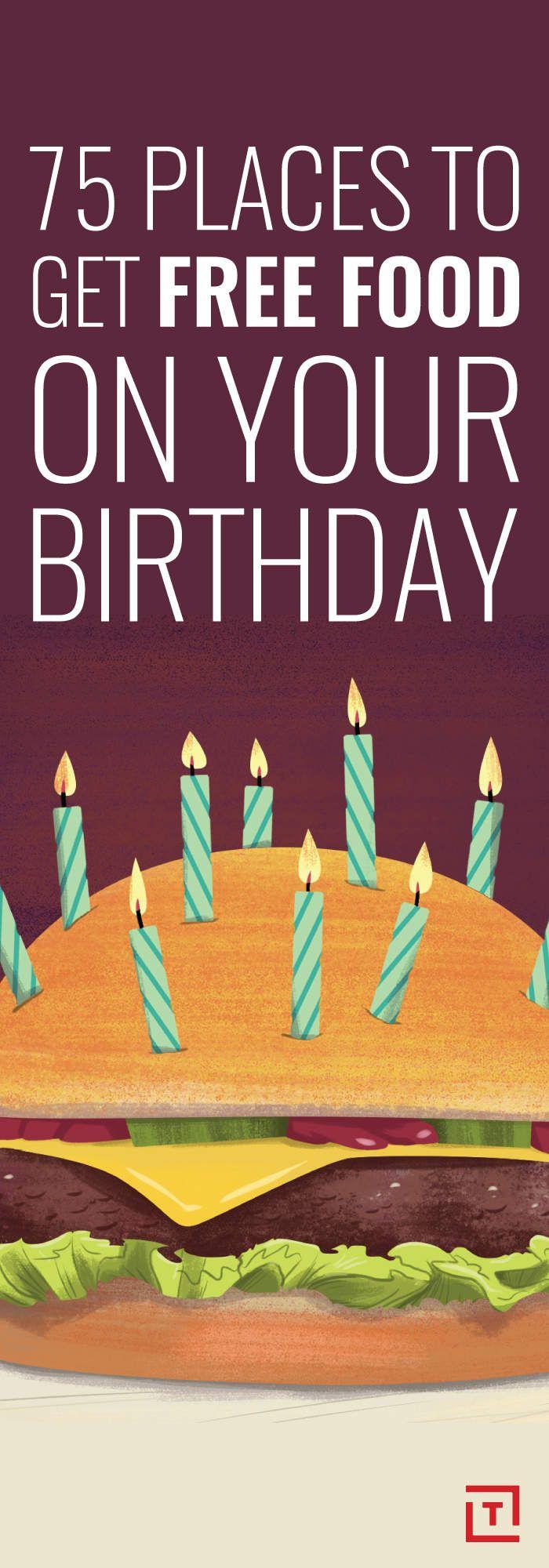Best 25 Free birthday food ideas on Pinterest Free birthday
