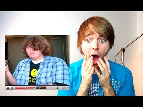 (ShaneDawson) WATCHING MY OLD FAT VIDEOS! When Fergie came on I knew my lungs were done for XD