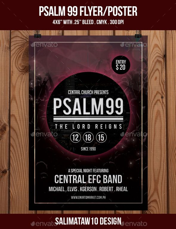 Psalm 99 Flyer / Poster