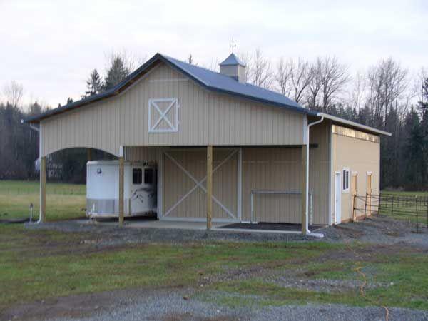 shed w/ trailer storage