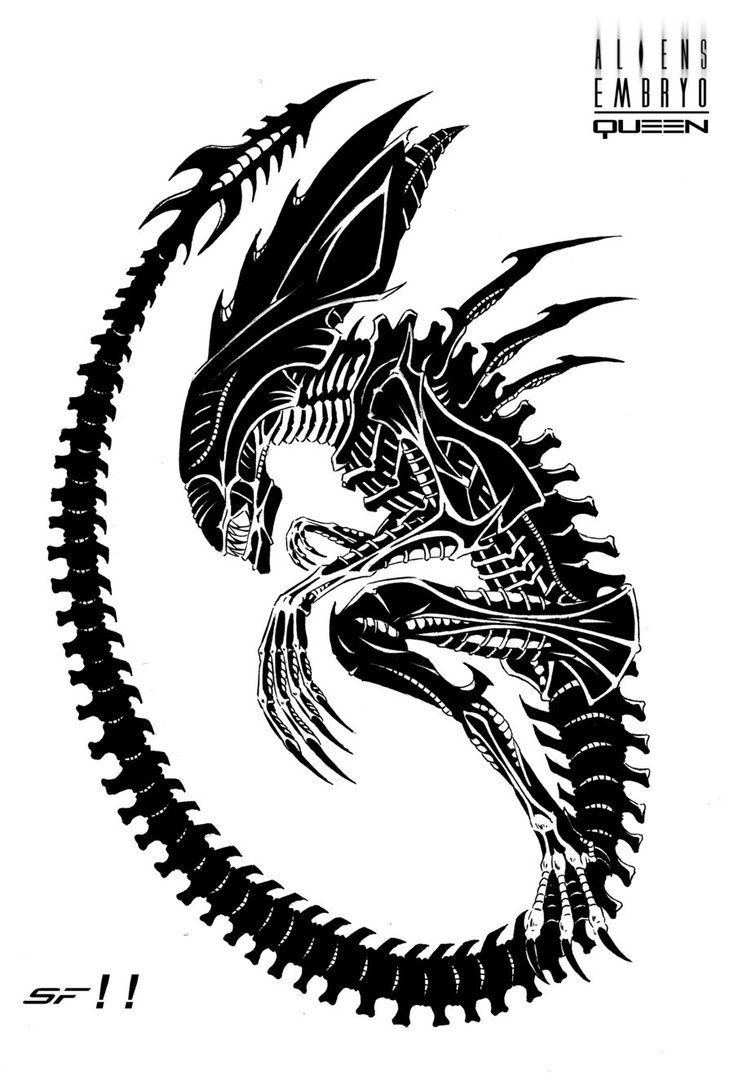 Alien Queen Embryo by Lordinator