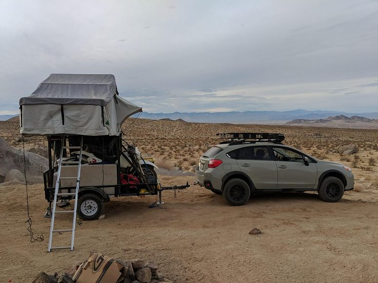 Nice Subaru Crosstek utility trailer camper setup for haul