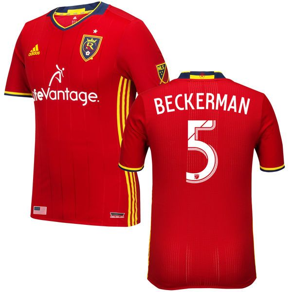 Kyle Beckerman Real Salt Lake adidas 2016 Authentic Primary Jersey - Red - $149.99