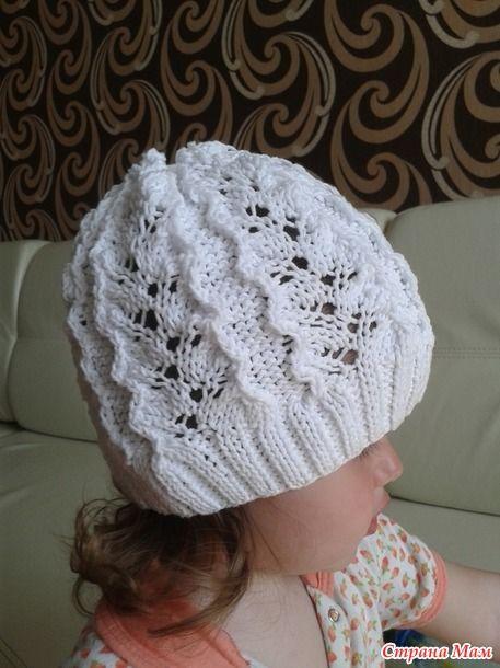 ажурная шапочка для девочки - Вязание - Страна Мам