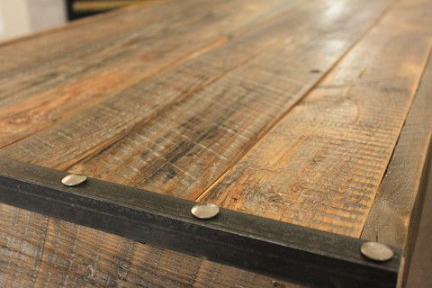 Custom Requests - Contact Us or info@jwatlaswoodco.com Call or text directly - 970-449-3322 Reclaimed Wood Coffee Table, Industrial Style Production Time - 2-4 Weeks Coffee Table - Industry Collection