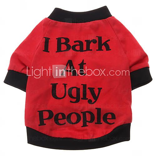 Dog Shirt / T-Shirt Red Spring/Fall Letter & Number 484222 2016 – $8.33
