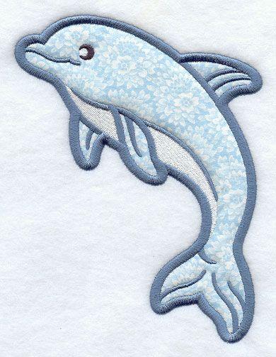 Design Free Applique Patterns | Dolphin (Applique)