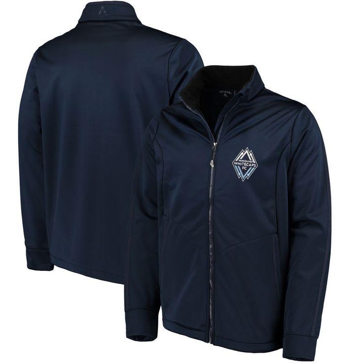 Vancouver Whitecaps FC Antigua Golf Full-Zip Jacket - Deep Sea Blue