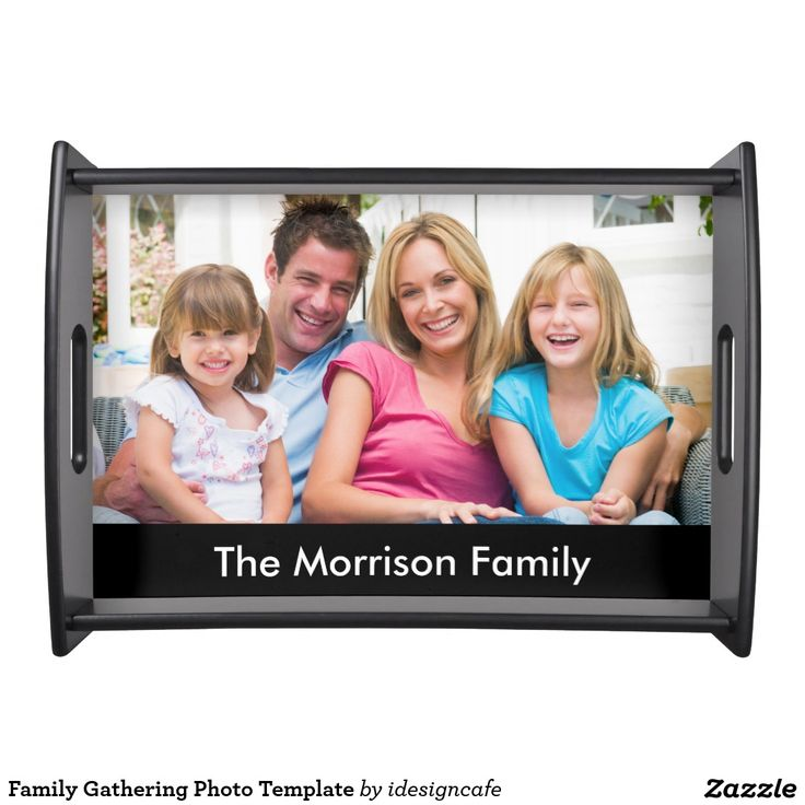 Family Gathering Photo Template. Inspiration to create your product. The photograph must have good resolution. Inspiración para crear tu producto. La fotografía debe tener buena resolución. Bandejas Serving Trays, home decor, decoración. Producto disponible en tienda Zazzle. Decoración para el hogar. Product available in Zazzle store. Home decoration. Regalos, Gifts. #Bandejas #Serving #Trays