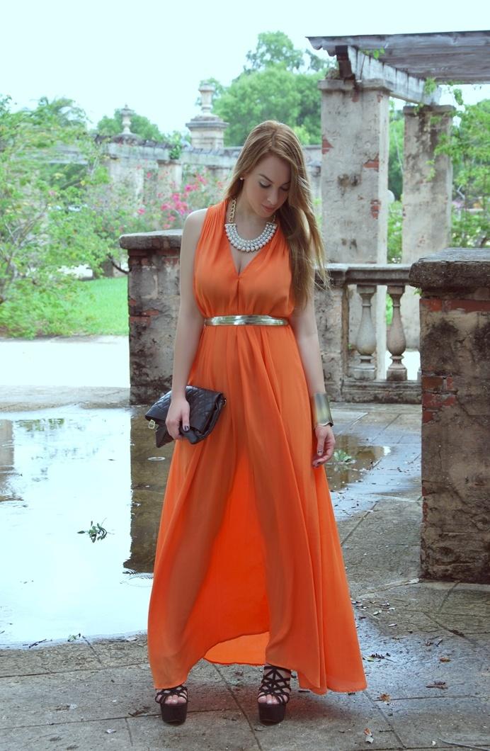 Long orange wedding guest dress    Keywords: #orangeweddings #jevelweddingplanning Follow Us: www.jevelweddingplanning.com  www.facebook.com/jevelweddingplanning/