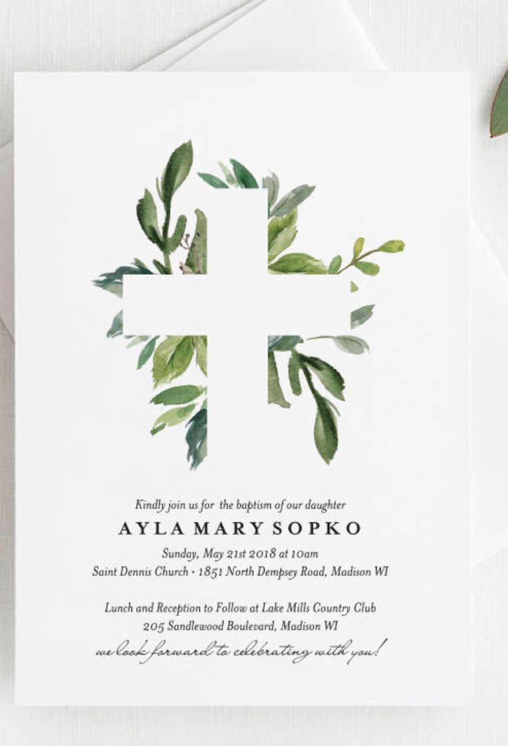 Taufe Einladung Mädchen Taufe Einladung Boy Taufe