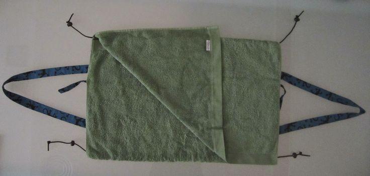 Una vez abierto, despliegas la toalla (70cm x 140cm)