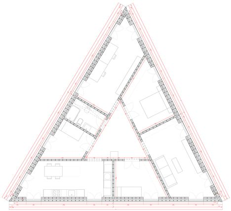 triangle, house, plan