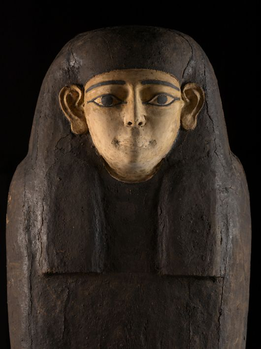 Coffin, probably of a woman, 1550 BCE to 1069 BCE, Wood, gesso, pigment, with resinous finish.