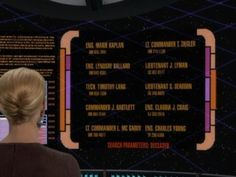 """On the Star Trek: Voyager episode """"Imperfection,"""" a list of names of the ship's deceased crew members clearly shows what eventually became of the staff of The West Wing. Mind-blowing."""