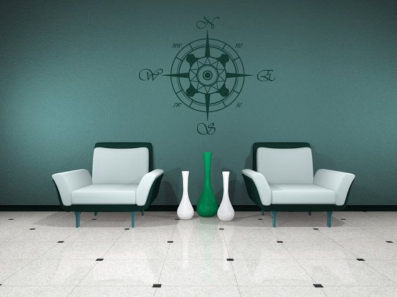 nautical office furniture. compass decal sticker vinyl wall home nautical office furniture